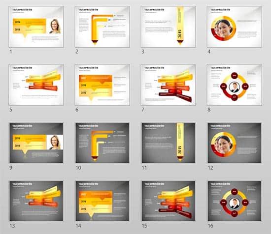 Timeline Concept PoweredTemplate