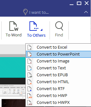 Convert to PowerPoint