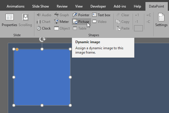 Add a Dynamic Image