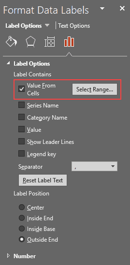 Values from Cells in PowerPoint 2016