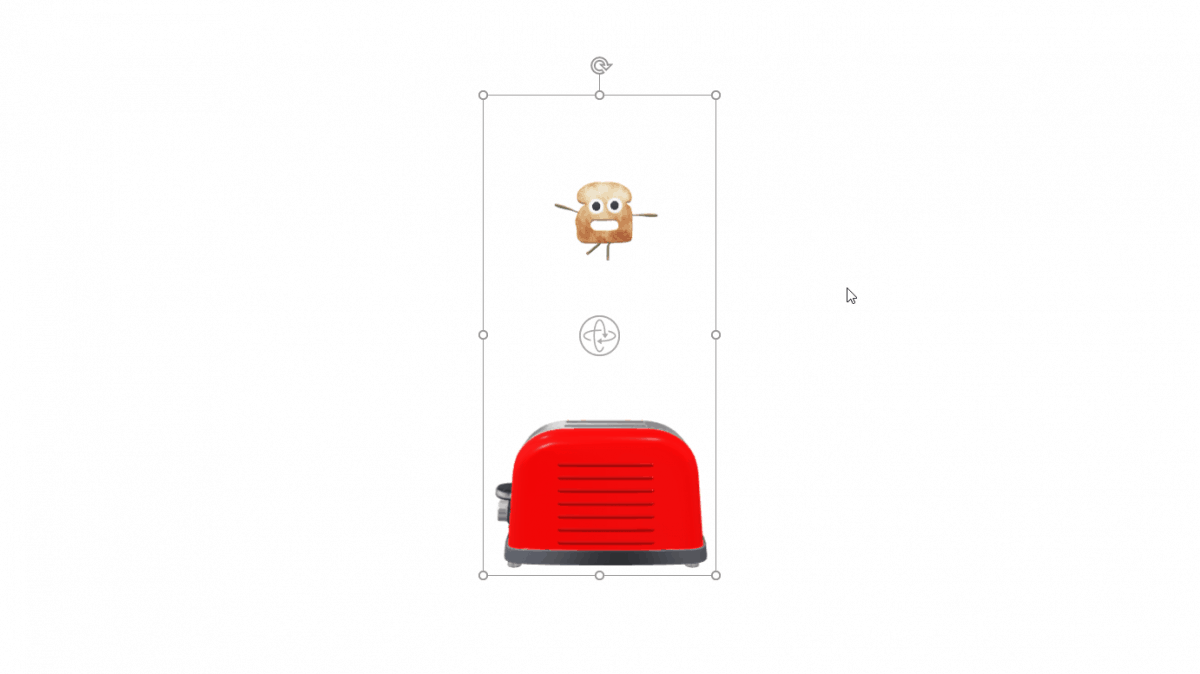 Animated 3D Model on a White Background