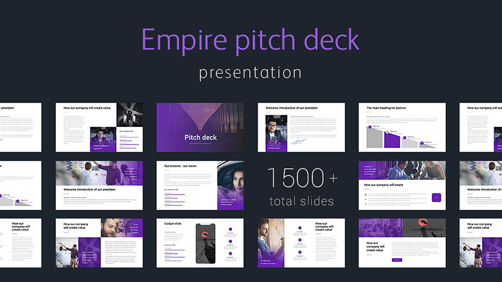 Empire Pitch Deck PowerPoint Template