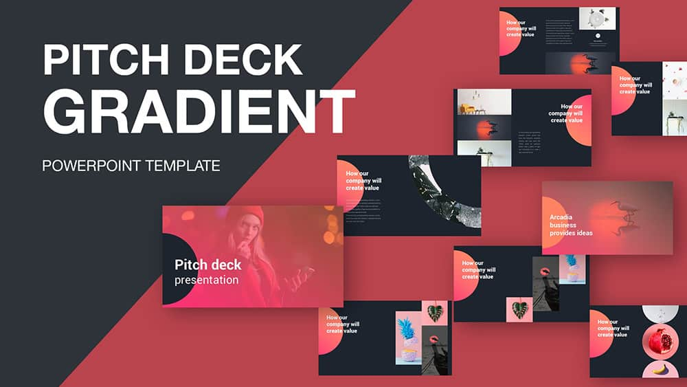 Pitch Deck Gradient PowerPoint Template