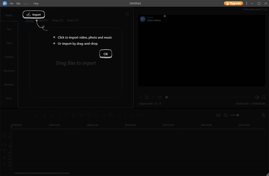 EaseUS Video Editor interface