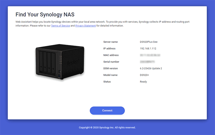 Found your Synology NAS