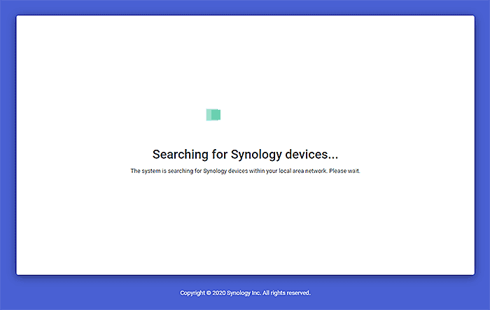 Searching for Synology devices