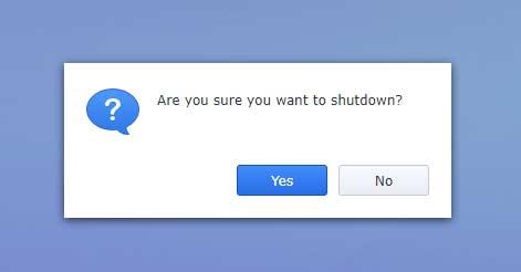 Sure you want to shutdown